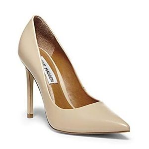 Steve Madden Proto Nude Leather Pointed Pumps